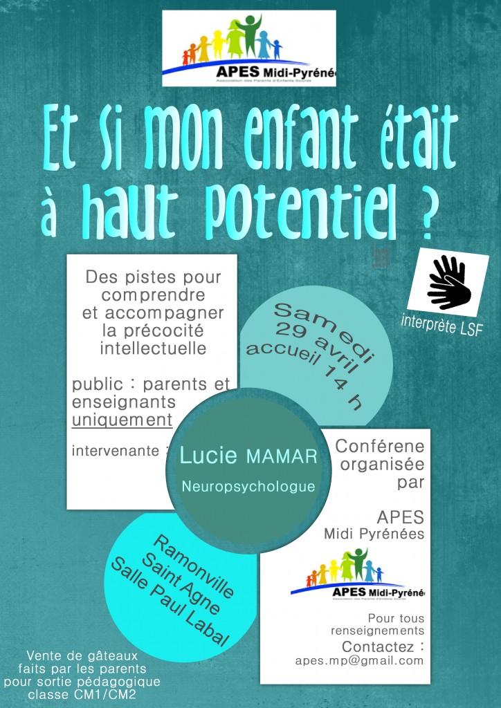 Conférence Enfants à haut potentiel
