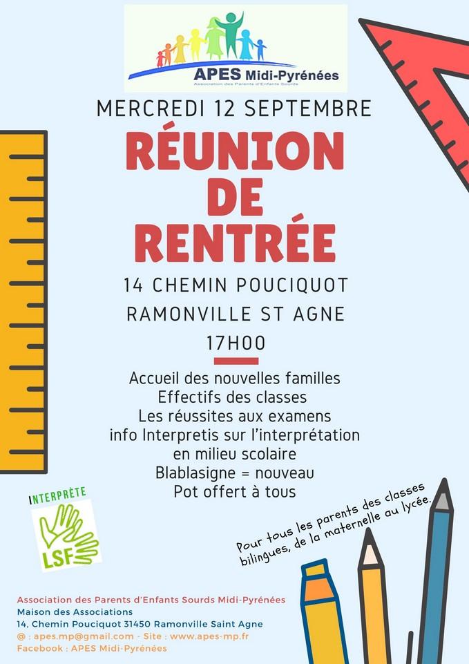 Réunion rentrée 12092018